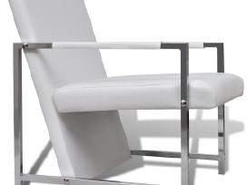 2 Kubo Formos Foteliai su Chromo Kojelėmis, vidaxl