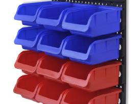 2 Įrankių Sienelės su Plastikinėmis Dėžutėmis
