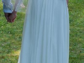 Lengva šampaninė graikiška vestuvinė suknelė