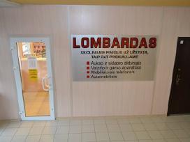 Lombardas Aukštaičių g.4 prie stumbro kavinės