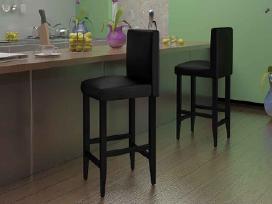 6 Juodos Dirbtinės Odos Baro Kėdės 160716 vidaxl
