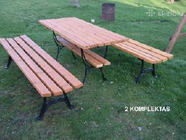 Lauko baldai: Stalai, suolai, suoliukai, kedes.