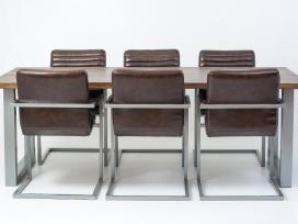 Odines Bergamo kėdė, industrinio metalo rėmas - nuotraukos Nr. 5