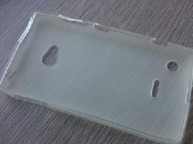 Nokia N720 silikoninis dėklas. Plėvelės.