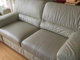 Naujai aptrauktas oda fotelis