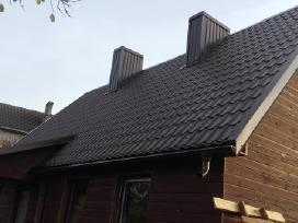 Kaminų valymas stogų remontas dengimas skardinimas