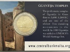 "Malta 2 eurai 2016 ""Ggantija"" kortelėje"