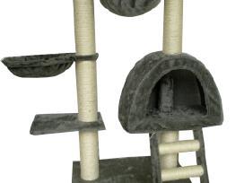 Kačių Draskyklė, 105 cm, Pilkas Pliušas, vidaxl