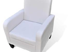 Krėslas, dirbtinė oda, baltas 241110 vidaxl