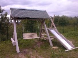 Lauko supynes su stogeliu ir pavesynes