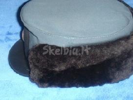 Žiemynė kepurė su naturaliu kailiuku