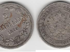 Rusija-suomija 2 marka 1874m. St. puikus. Kaina 35 - nuotraukos Nr. 2