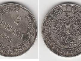 Rusija-suomija 2 marka 1874m. St. puikus. Kaina 35 - nuotraukos Nr. 5