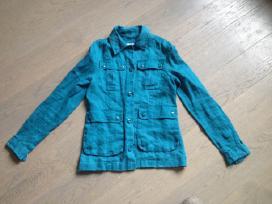 Indigo mėlynos spalvos lininis švarkas/švarkelis - nuotraukos Nr. 2