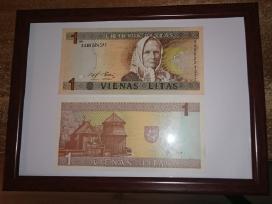 Įrėminti litų banknotai - puki dovana! - nuotraukos Nr. 4
