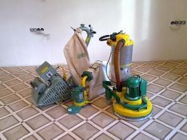Parketo grindų atnaujinimas, šlifavimas.