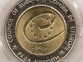 Ukrainos bimetales 5 gr nominalo