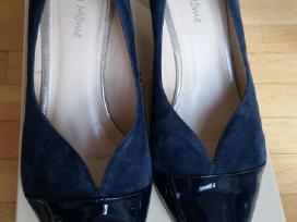 Mėlynos spalvos verstos odos bateliai - nuotraukos Nr. 2