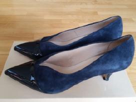 Mėlynos spalvos verstos odos bateliai - nuotraukos Nr. 3