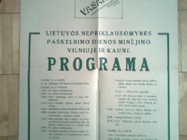 1988- 1989 metu Lietuvos atsisaukimai ir plakatai