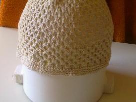 Lininė lietuviška skara, Lininė nerta kepuraitė.