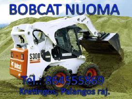 Bobcat ekskavaroriaus ir savivarcio paslaugos