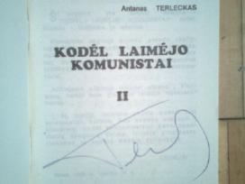 L. L. L. leidiniai su Antano Terlecko autografais