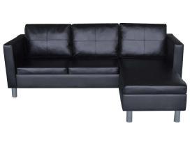 Trivietė L Formos Kampinė Sofa, Dirbtinės Odos
