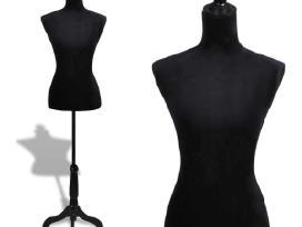 Moteriškas Siuvimo Manekenas, Juodas, vidaxl