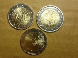 2 eur proginės monetos Ačiū ir Vėliavai Unc