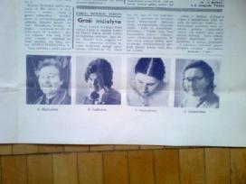 """Sovietinis sienlaikrastis """" Tiesietis""""1971 m."""