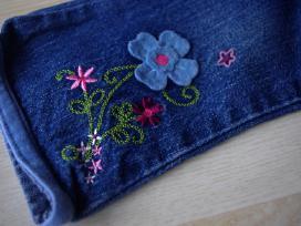 Velvetinės kelnės ir džinsai 9 mėn. 74cm 2vnt. - nuotraukos Nr. 5