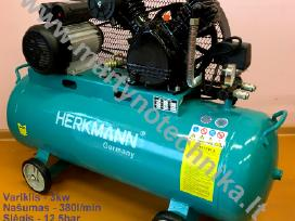 Oro kompresorius 2cilindrai/100l 380l/min 3kw