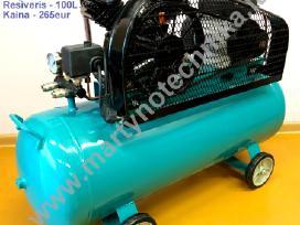 Oro kompresorius 2cilindrai/100l 380l/min 3kw - nuotraukos Nr. 3