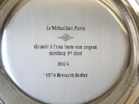 1977 m. Bernard Buffet lėkštė