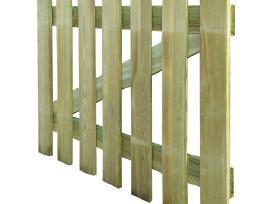 Medinė Statinių Tvora 100 x 80 cm, vidaxl