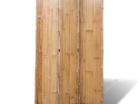 3 Dalių Kambario Pertvara iš Bambuko, vidaxl