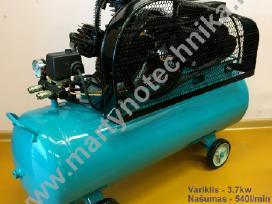 Oro kompresorius 3cilindrai/100l 540l/min 3.7kw - nuotraukos Nr. 4