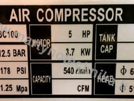 Oro kompresorius 3cilindrai/100l 540l/min 3.7kw - nuotraukos Nr. 5