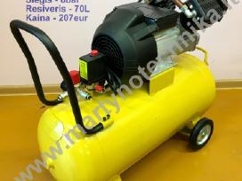 Oro kompresorius 2cil/70l 430l/min 3kw - nuotraukos Nr. 2