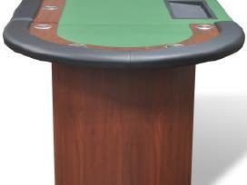 10 Žaidėjų Pokerio Stalas su Vieta Dalintojui - nuotraukos Nr. 5