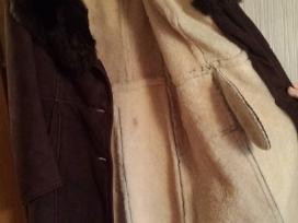 Natūralios verstos odos paltas. - nuotraukos Nr. 6