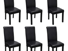 6 Valgomojo Kėdės iš Dirbtinės Odos, 271839 vidaxl