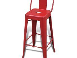 2 Aukštos Baro Kėdės, Raudonos, vidaxl - nuotraukos Nr. 3