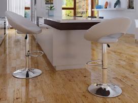 2 Baltos Baro Kėdės, vidaxl