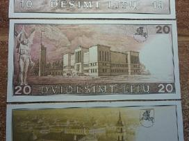 1991 Unc litų banknotai 10lt, 20lt 50lt. Reti - nuotraukos Nr. 2
