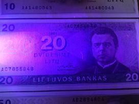 1991 Unc litų banknotai 10lt, 20lt 50lt. Reti - nuotraukos Nr. 5