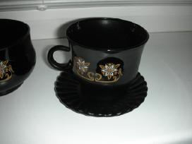 Juodo stiklo puodeliai +cukrine - nuotraukos Nr. 2