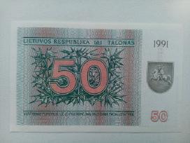 """1991m - 50 talonu """"briedis"""" - nuotraukos Nr. 2"""