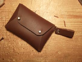 Odinė rankų darbo piniginė - nuotraukos Nr. 5